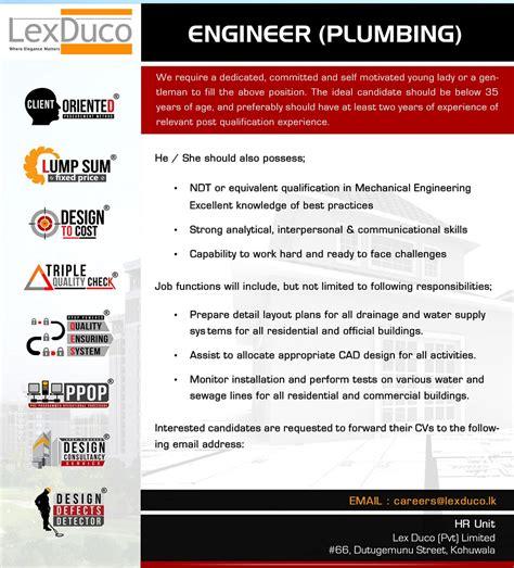 plumbing design engineer job description plumbing engineer jobs typo in college essay