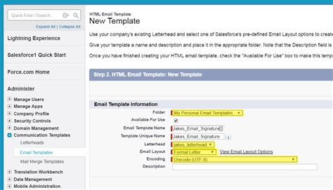 email layout salesforce how to setup your email signature in salesforce