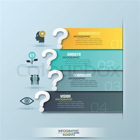 website layout questions modern question ribbon infographics options banner vector