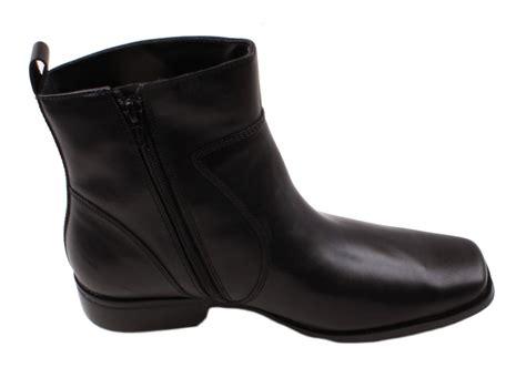 mens black boots with zipper rockport toloni mens black leather inside zipper boots ebay