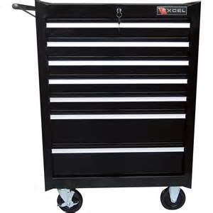 Tools Cabinet excel 26in 7 drawer roller tool cabinet 26 7 8in w x 18in d x 39 1 4in h model tb2080bbsb