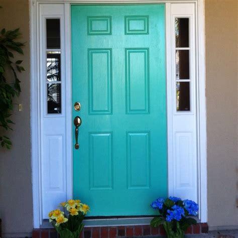 teal front door teal door brightens mood decor pinterest teal door