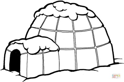 igloo coloring page free igloo coloring page free printable coloring pages