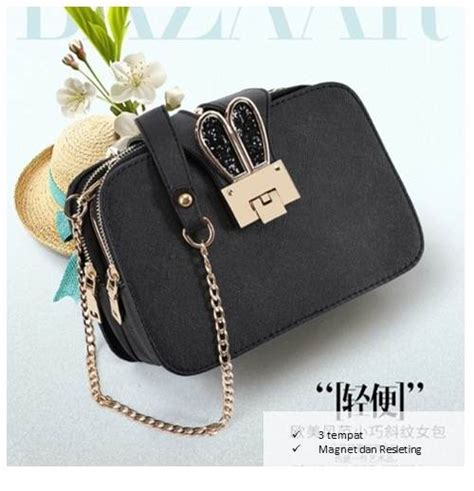 jual b2808 black clutch bag import grosirimpor