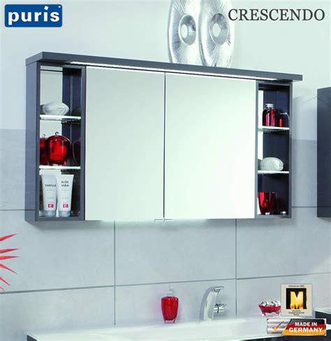 spiegelschrank puris puris crescendo led spiegelschrank 120 cm s2a431226l