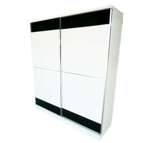 White Gloss Sliding Wardrobe by Trentino Black White High Gloss Sliding Wardrobe