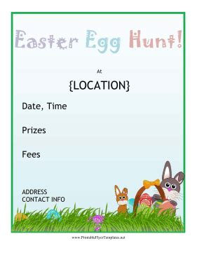 easter egg hunt template free easter egg hunt flyer