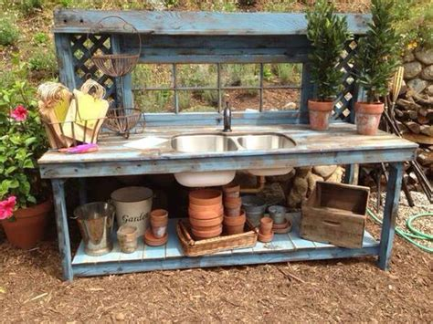potting bench with sink 25 best ideas about potting benches on pinterest
