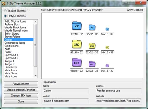 themes for windows 7 zip 7 zip theme manager download
