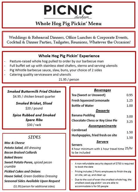 top 28 picnic menu menus picnic durham menus picnic