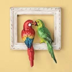 parrot wall decor 3 dimensional tropical theme parrot decor wall