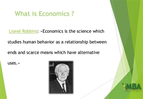 What Is Mba In Economics by Economics Chapter1