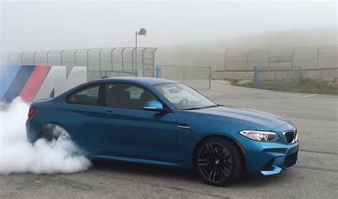 bmw  shreds  tyres  insane burnout video