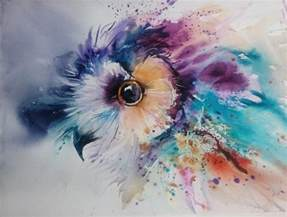 water color painting natalie graham owl watercolour painting artists