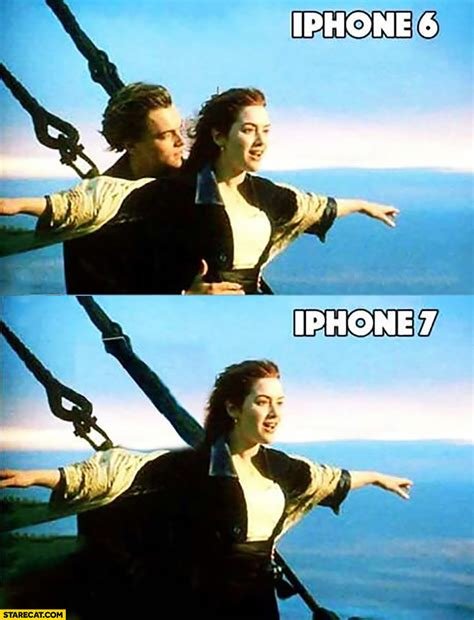 Iphone 7 Memes - iphone 7 no headphones jack titanic meme starecat com