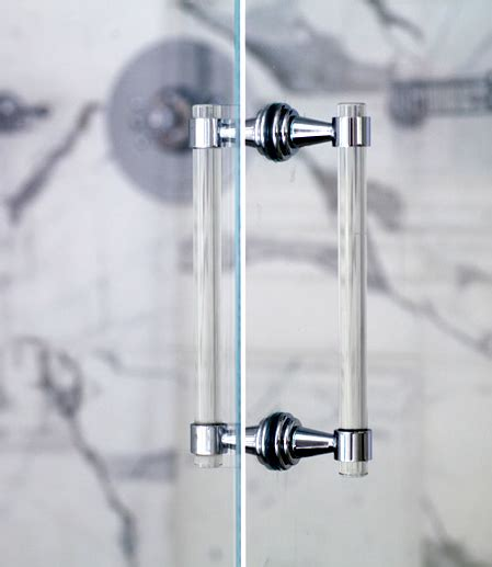 Glass Shower Door Handle Lucite Chrome Or Brass Shower Door Pull Handles