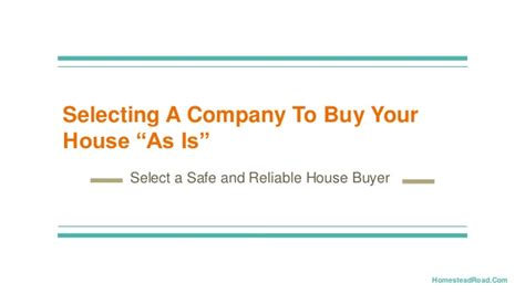 companies that buy your house selecting a company to buy your house as is