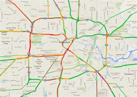 houston transtar map houston traffic map map2