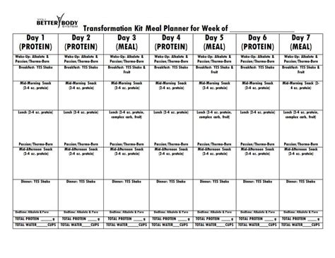653 best meal prep planner templates images on pinterest