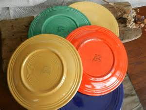 Copper Kitchen Canisters fantastic vintage fiesta dinner plates multi colored set of