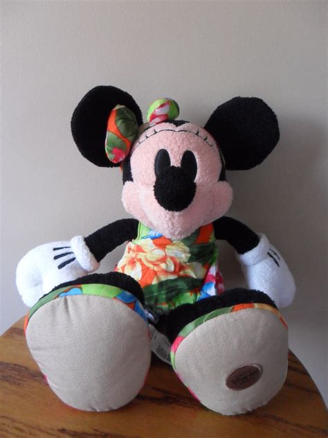 disney store pool party minnie mouse plush hawaiian summer