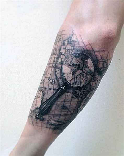 3d tattoo world map 50 world map tattoo designs for men adventure the globe