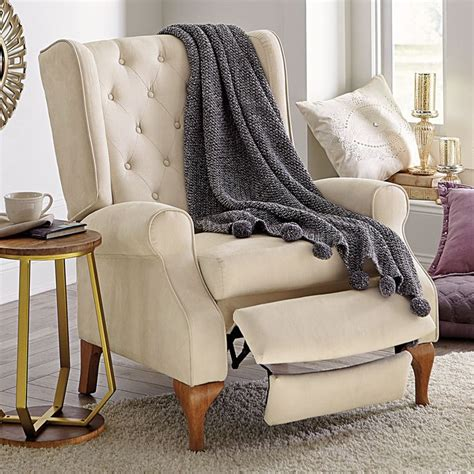 Reclining Cing Chair With Footrest by Our Beautifully Crafted Style Tufted Wingback