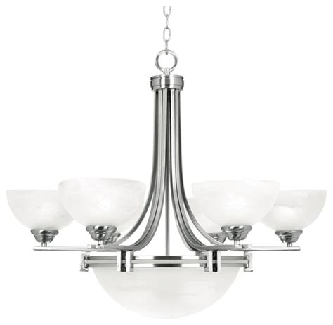 possini lighting possini deco nickel collection 8 light chandelier contemporary chandeliers by