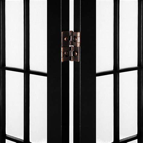 black room divider room divider 6 panel black
