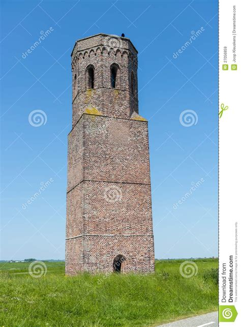 big tower tiny square big stonework tower with small door royalty free stock images image 27056859