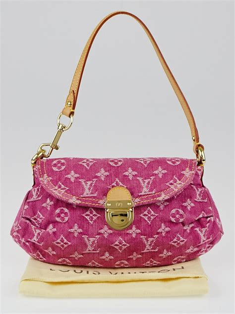 louis vuitton pink denim monogram denim mini pleaty bag