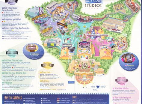 disney studios map walt disney studios map