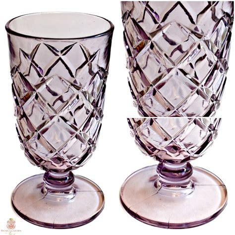 Antique Purple Glass Vase Antique Lavender Purple Glass Celery Vase