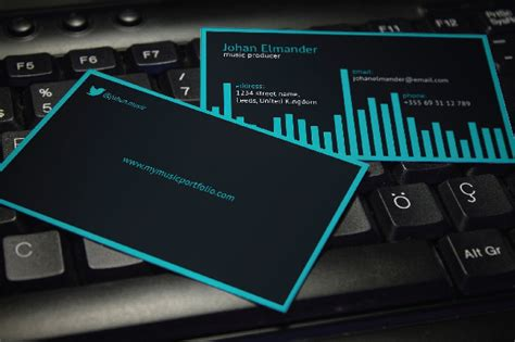 producer business card template 20 musician business card templates free premium