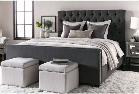Living Spaces Beds by Leighton Eastern King Upholstered Panel Bed Living Spaces