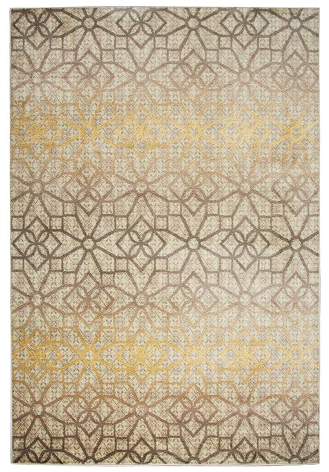 pattern area rugs bay side geometric pattern area rug in khaki gold 5 3 quot x 7 7 quot