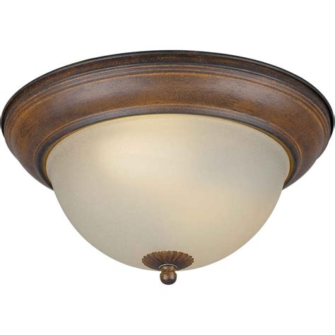 shop 13 25 in w rustic flush mount light at lowes