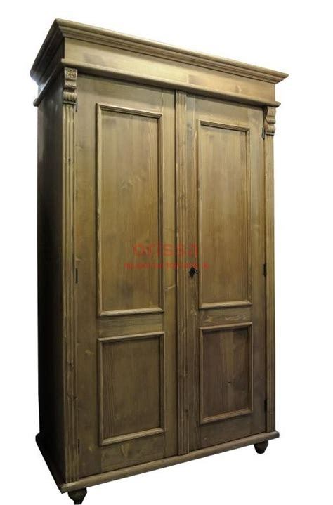armadio in pino armadio legno massello bianco decapato shabby chic