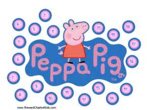 peppa pig reward charts