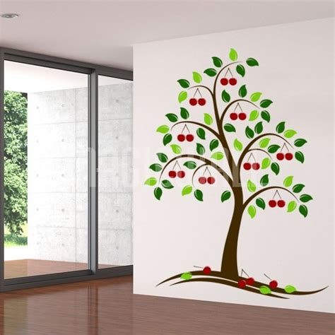 wall tree sticker wall decals beautiful cherry tree wall stickers