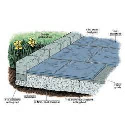How To Lay Stone Patio by Overview How To Lay A Stone Patio This Old House