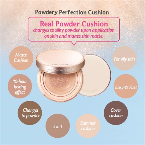 Etude House Real Powder Cushion Spf 50 Cushion Tahan Lama Asli Korea etude house real powder cushion spf50 pa 15g 3 shades