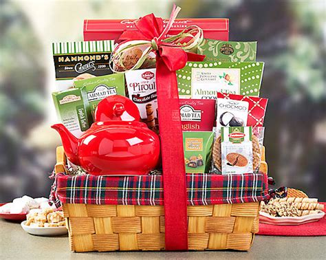 holiday tea delight gift basket at gift baskets etc