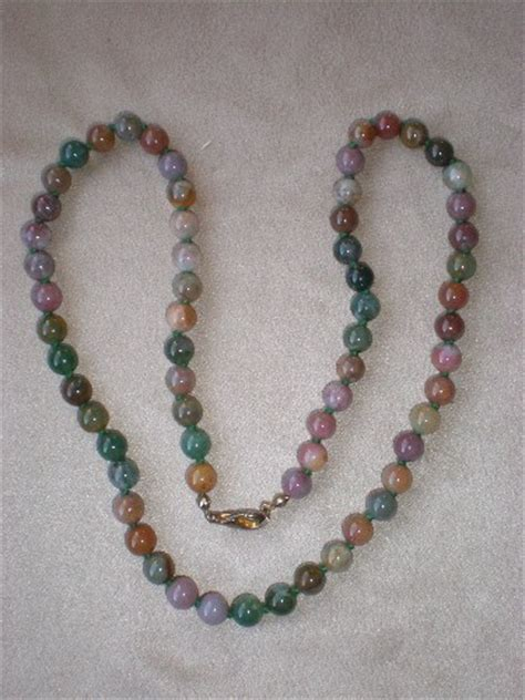 multi coloured bead necklace fabulous multi colored jade bead necklace from