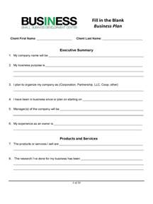 free printable business plan template business plan template sle printable