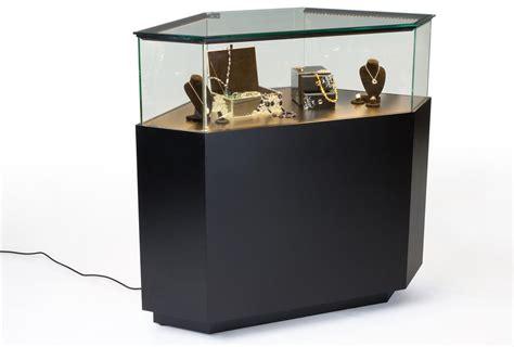 led lights for jewelry showcase led lit jewelry showcase black corner vision case