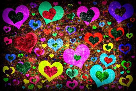 wallpaper colorful heart colorful heart backgrounds wallpapersafari