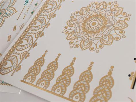 tattoo mandala gold metallic henna tattoo festival fashion essential