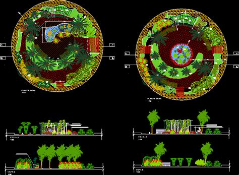 project landscape complete dwg full project  autocad