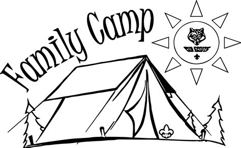family camping coloring pages